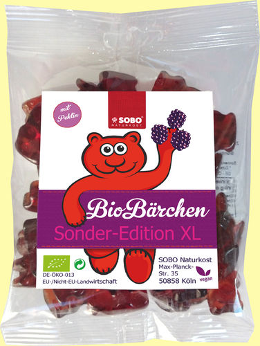 Bio-Bärchen, Sonderedition XL, vegan 200g (weich)